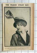 1915 Pedal Straw Hat With Ribbon Mount Creation Dh Evans