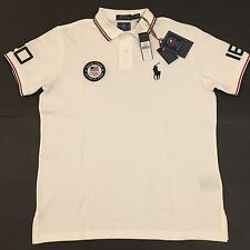Polo Ralph Lauren Mens Team USA Olympics 2016 Rio Big Pony Shirt NWT$125 White L