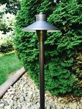 4 Pk LED Low Voltage Outdoor landscape lighting Solid Brass Vela Path light