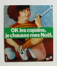 Autocollant NOEL - Baskets Tennis - Sticker collector - Année 70 /80 vintage