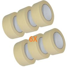 6X MASKING TAPE For Home DIY or the bodyshop 50mm x 50m Protects masked surfaces