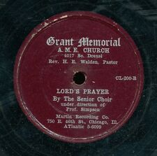pc78-Black Gospel-MARTIN 200-GRANT MEMORIAL A&E  Choir *** RARE  Chicago label
