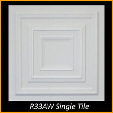 Contemporary Ceiling Tiles Glue Up R33 White on SALE Lot of 8