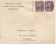 MONACO 1928 coperchio con coppia 25c con EXPO FILATELIA Slogan ref 422