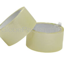 """12 ROLLS OF CLEAR PACKING PARCEL TAPE 48mm x 66M (2"""")"""