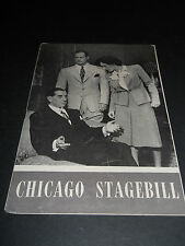 MARCH 1945 CHICAGO STAGEBILL- TEN LITTLE INDIANS, HARRIS THEATRE, ROBERT WARWICK