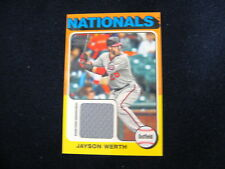 JAYSON WERTH GAME-USED MEMORABILIA MINI CARD--2011 LINEAGE