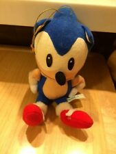 SEGA SONIC The Hedgehog  Japan UFO Plush Doll 1992 sitting