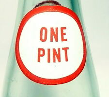 """vintage ACL Soda Pop Bottle:  DR. PEPPER 16 oz STYLE #2 - """"ONE PINT"""" NECK CIRCLE"""