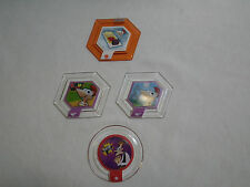 Disney Infinity  Phineas and Ferb , sky,  weapon & vehicle power disc set of 4