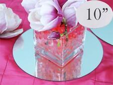 "6 pcs 10"" Round MIRRORS Wedding Party Reception Wholesale CENTERPIECES Supplies"