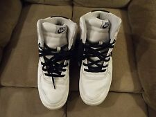 2005 Nike Air Vandal High Leather sz 10.5 White Obsidian Navy Blue 309427-141