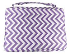 New PURPLE BIBLE COVER Protective Ladies Holy Book Tote Pocket Zipper Carry Case