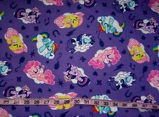 Kids Flannel fabric My Little Pony cotton print quilt sewing material BTY horse