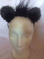 Dark Grey Lion Ears With Mini Mane One Size Fancy Dress Ears Unisex Animal Ears