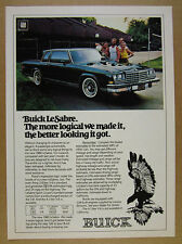 1980 Buick LeSabre Coupe black car color photo vintage print Ad