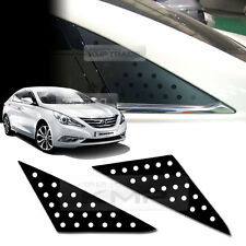 Quarter Glass Sports Mask Matt Black Decal Stickers for HYUNDAI 11-14 Sonata YF