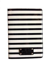 NWT  KATE SPADE Wellesley Patent Stripe Ipad mini Folio Case Blk/Cream WIRU0356