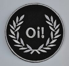 Black Oi! Skinhead Embroidered Patch