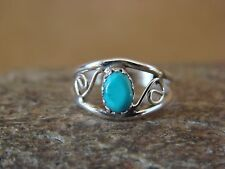 Native American Jewelry Sterling Silver Turquoise Toe Ring, Size 3.5 by Lincoln