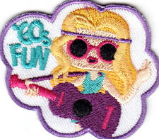 """""""60's FUN"""" - WORDS- HIPPIE - RETRO - Iron On Embroidered Patch"""