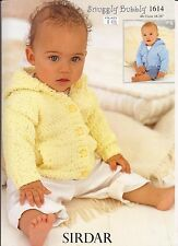 Jackets Pattern for Babies Children -Sirdar Snuggly Bubbly Knitting Pattern 1614