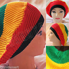 Job Lot 12 Pieces Benny Beanie Beret Knit Hat Rasta Cap Jamaican Head Hats