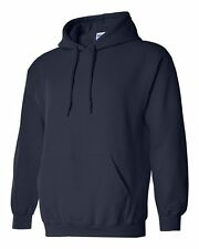 7 Gildan Navy Adult Hooded Sweatshirts Bulk Wholesale Lot S-XL Hoodie Jumpers