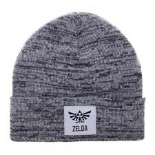 OFFICIAL THE LEGEND OF ZELDA TRICEFORCE PATCH GREY BEANIE HAT (BRAND NEW)