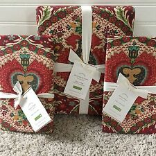 NEW Pottery Barn DARCY KING SIZE DUVET Cover & 2 EURO SHAMS NWT    **free ship**