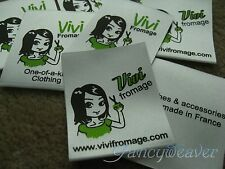 Custom Boutique 1,000pcs Satin Printed Labels (2-4 colors) for Tee, Clothing