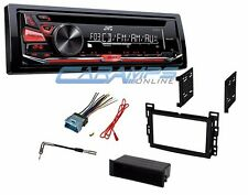 NEW JVC CAR STEREO RADIO CD PLAYER RECEIVER WITH COMPLETE INSTALLATION KIT