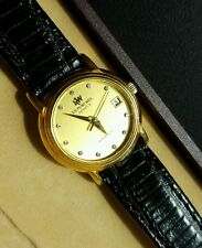 Diamond Dial 18k Gold Plated Raymond Weil Geneve Ladies Automatic Watch! 2611