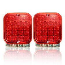 2x Trailer 20 LED Tail Light Mount Truck 5'' Square Turn Brake Lamp Universal