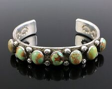 """KEWA STERLING SILVER ROYSTON TURQUOISE CUFF BRACELET by JIMMY """"CA-WIN"""" CALABAZA"""