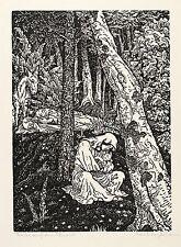 KARL THYLMANN - Ruhe auf der Flucht - Holzschnitt 1914