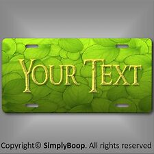 Green Leaf Leaves Personalized Your Text Slate License Plate Auto Car Tag New