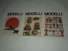 MODELLISMO-MODELLI IN EUROPA-AEREI-NAVI-RADIO-TRENI-BLOCCO DI 3 NR.ANNI 1972/73