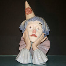 Lladro Figurine  #5129 Clown's Head retired 2001 13 inches excellent