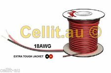 HEAVY DUTY TWIN FIG 8 AUTO CABLE 18AWG 10A DC POWER, SPEAKER WIRE ETC. 100m REEL