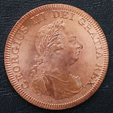1808 Bahamas  Retro Pattern Proof Crown 5 Shillings  Copper Coin George III