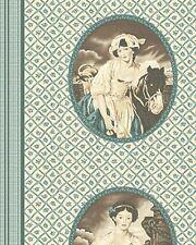 Algodón Colchas de retazos de tela-en el Manor (camafeo) - Verde Azul - 1 Metro