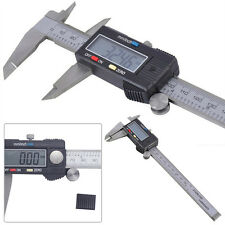 "8"" Inch/200mm Electronic LCD Digital Vernier Caliper Gauge Ruler Stainless Steel"
