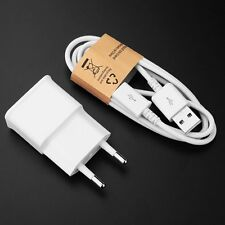 5V 2A EU Plug Wall Travel Chargers 1M USB Cable For Samsung Galaxy Phone S6 HTC
