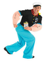 Adult Popeye The Sailor Fancy Dress Costume Mens Gents Male BN