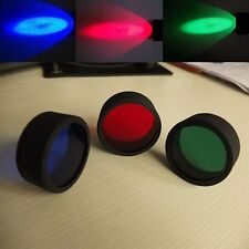 3X ML C8 Red Blue Green Beam Flashlight Torch Filter For Air Rifle Hunting Light