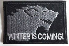 "Game of Thrones Winter is Coming- STARK House Patch 3""- FREE S&H (GTPA-010)"