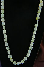 Stunning Sterling & Aventurine Hand Knotted Beaded Necklace 35 Inches 166 Grams