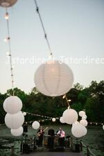 "12X Round White Chinese Paper Lanterns Lamp 6"" Wedding Decoration Beautiful US"