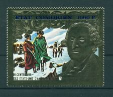 G. WASHINGTON - COMORO ISLAND 1976 USA Bicentennial Golden Stamp A